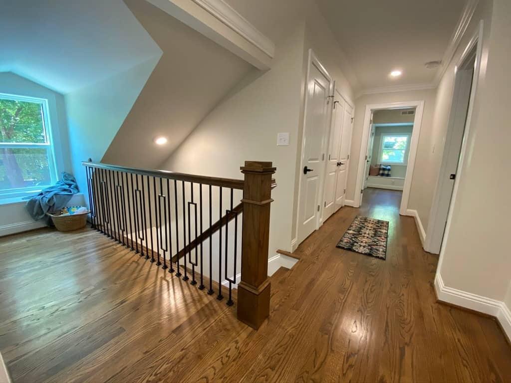 upstairs nook and hallway remodel