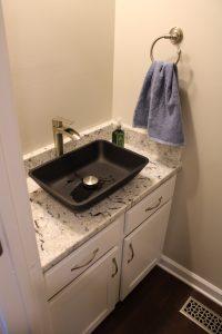 half bathroom renovated