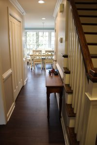 hallway with new updated LVP flooring