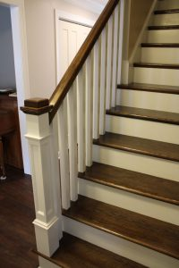 renovated stairs with wood.