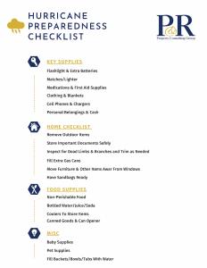 A simple checklist printable guide for hurricane season.